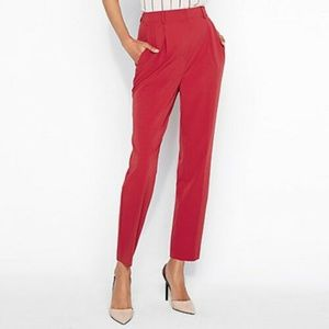 Express Super High Waisted Shirred Ankle Pants XL